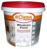 Эмаль акриловая для окон и дверей белоснежная Interior Paint Windows